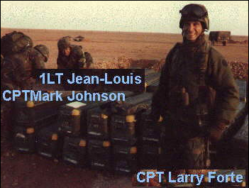 CPT Forti, CPT Johnson & 1LT Jean-Louis