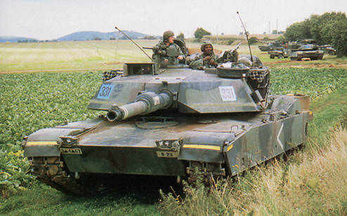 67th Armor tank in a field exercise