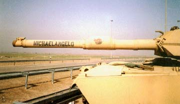 B-12 (Michealangelo) on  duty near Safwan, Iraq