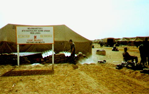 Headquarters, 4-32 AR in redeployment camp vicinity of King Kahlid Military City, Saudi Arabia, about May 1991