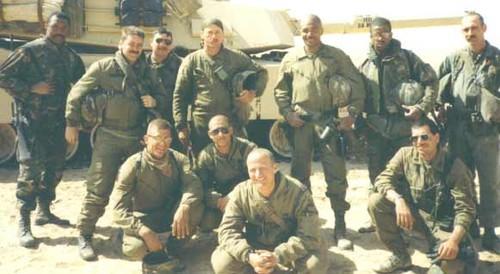 The leadership of C/4-32 AR